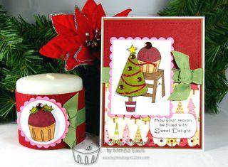 Sneak peek card and candle