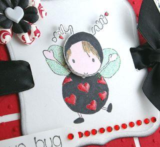 Lovey huggabug-Mosaic background-close up