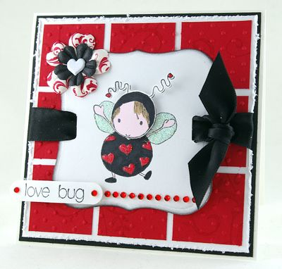 Lovey huggabug-Mosaic background