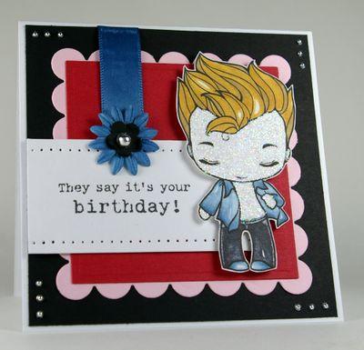 Stamper: Edward Birthday card...