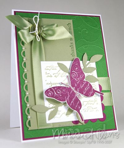Simple Friendship butterfly card