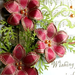 Wishing you... shimmer flowers-close up