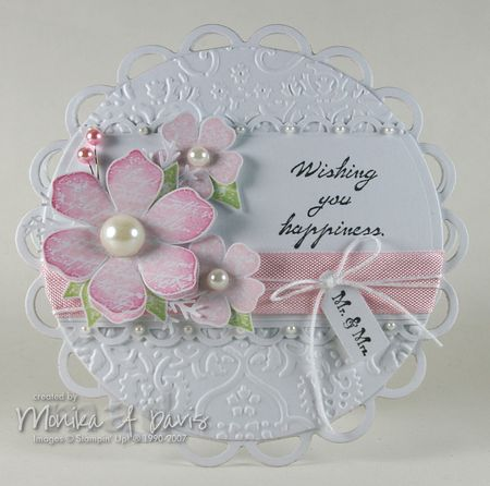 Vintage Vogue-circle-wedding card