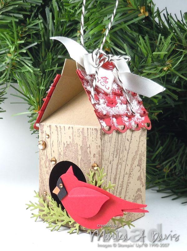 Christmas Birdhouses.M A D Stamper Christmas Birdhouse