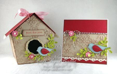 Birdhouse box and card