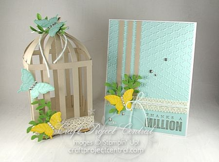 Birdcage and card