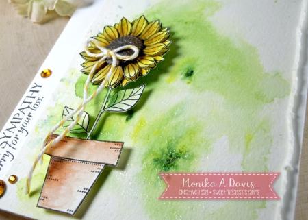 PrettyPottedFloralsSunflowercloseup2