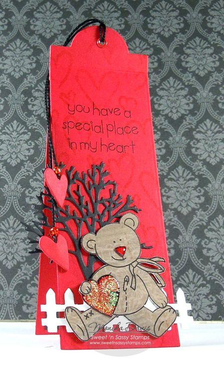 ValentineCrittersBearBookmark